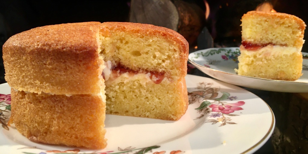 Two very different vegan recipes - both great for Cosy teas by the fire as it snows outside.   Traditional Victoria Sponge as could be wished for without egg or butter!