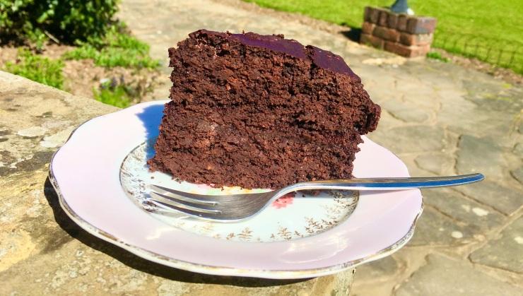 Vegan, wheat and dairy free chocolate cake